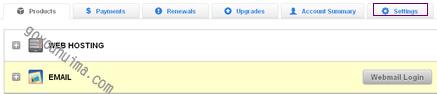 修改GoDaddy账户密码的方法