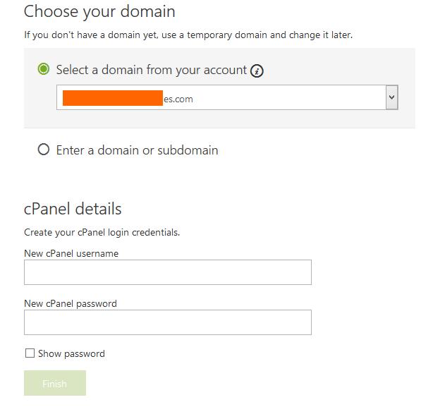 设置GODADDY主机主域名和FTP账户