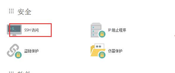 找到SSH访问权限设置