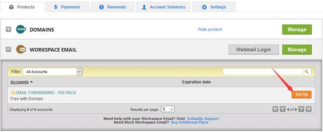 登录Email Forwarding产品入口