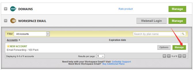 添加和管理免费邮局账户